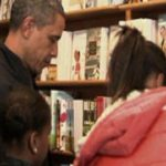 President Obama has pitched in to help small businesses get into the holiday shopping season. The president took his daughters, Malia and Sasha, along to Kramerbooks in Dupont Circle, a few blocks from the White House.