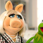 "Miss Piggy and Kermit the Frog in ""The Muppets."""