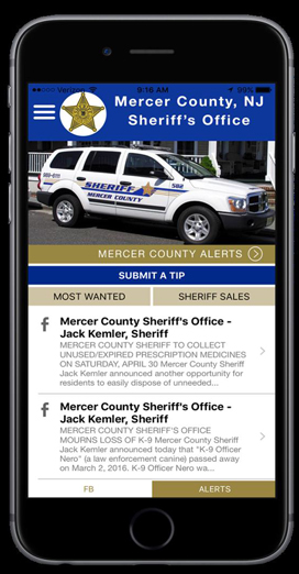 Mercer County Sheriff Kemler announces release of new mobile app