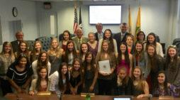 Freeholders honor Mercer County softball champions, Robbinsville High School