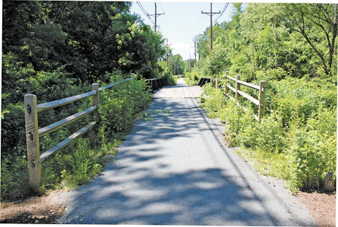 Ewing celebrates opening of historic Johnson Line trolley trail