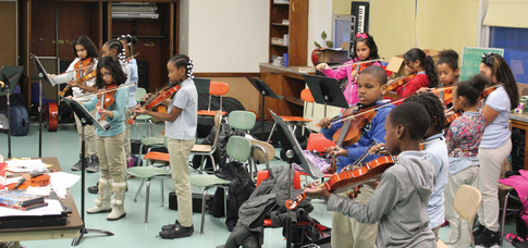 Trenton Community School students play for life and learning