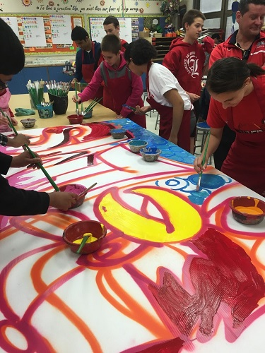 Lawrence Middle School students create urban art masterpiece