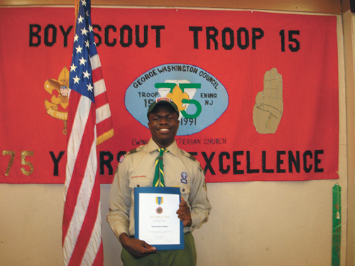 Ewing scout recognized for heroic actions