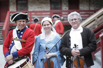 Old Barracks transformed into tavern for an evening of colonial festivities and fundraising