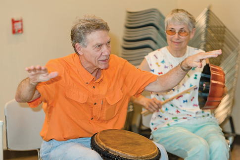 At library, amateur musicians play to the beat of their own drums