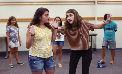 Robbinsville High School senior uses Girl Scout project to teach the art of improv