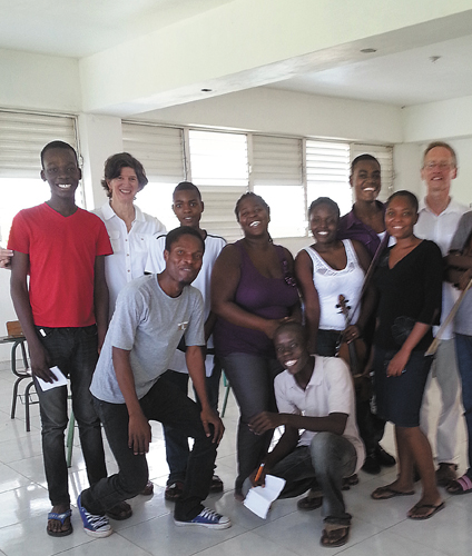 West Windsor couple visits Haiti to help students hone their musical skills