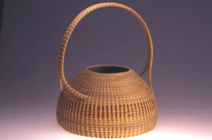 "A basket made by MacArthur ""genius grant"" recipient Mary Jackson."