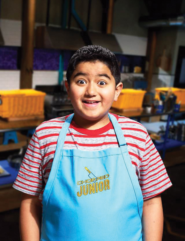 """Wilson Elementary School student Joshua Pantoja calls himself a """"chomedian."""" Pantoja displayed that chef-comedian combination during his appearance on """"Chopped Junior"""" this spring."""