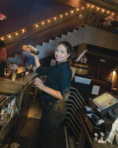 Triumph bartender Maria Alvarez.