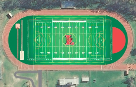 A rendering of the new Lawrence High School turf field.